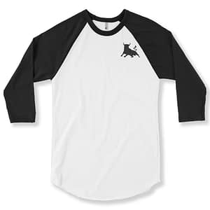 Raglan 3/4 Sleeve - White